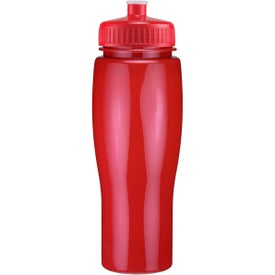 Promotional Opaque Contour Bottle with Push Pull Lid