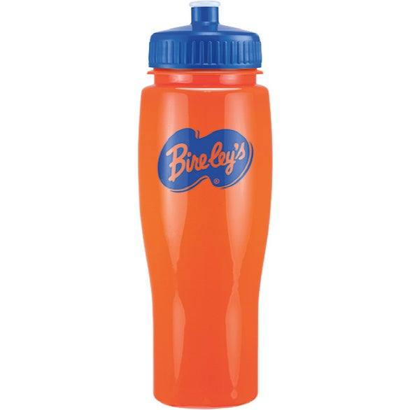 Opaque Contour Bottle with Push Pull Lid