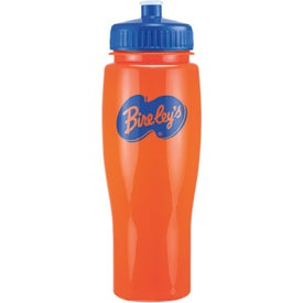 Opaque Contour Bottle with Push Pull Lids (24 Oz.)