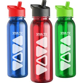 Outdoorsman Tritan Bottle with Flip Straw Lid with Your Logo