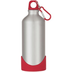 Logo Aluminum Bike Bottle With Plastic Base