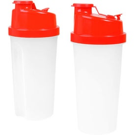 Plastic Fitness Shaker with Measurements for Promotion