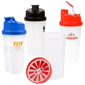 Plastic Fitness Shaker with Measurements (20 Oz.)