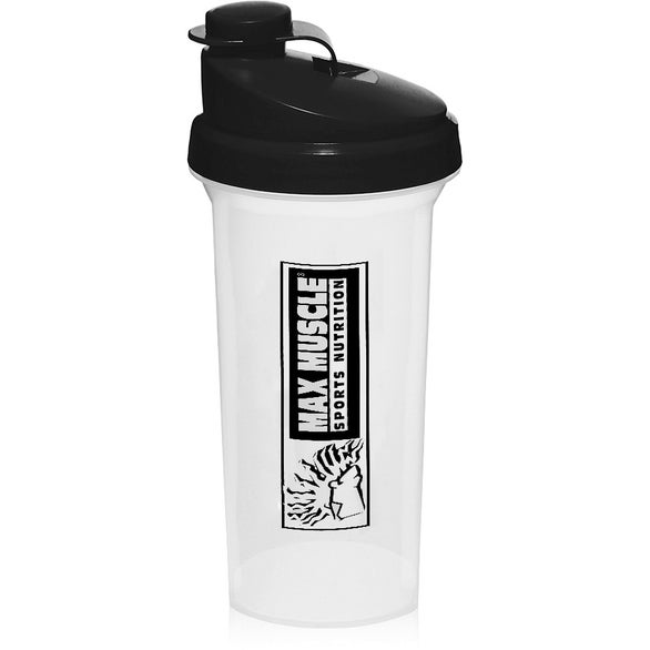 Clear / Black Plastic Shaker Bottle