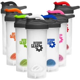 Plastic Shaker Bottle with Mixer (24 Oz.)