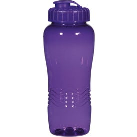 Poly Clean Wave Bottle Branded with Your Logo