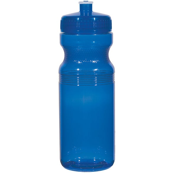 Translucent Blue Poly-Clear Fitness Bottle