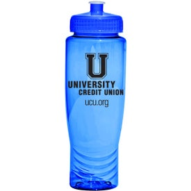 Poly Fresh Rainier Water Bottle with Your Slogan