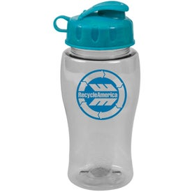 Promotional Poly Pure Bottle with Flip Lid