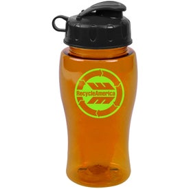 Advertising Poly Pure Bottle with Flip Lid