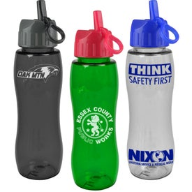 Personalized Poly-Pure Bottle with Flip Straw Lid