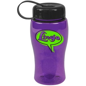 Logo Poly-Pure Bottle with Tethered Lid