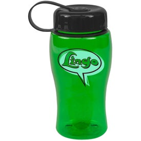 Poly-Pure Bottle with Tethered Lid for Customization