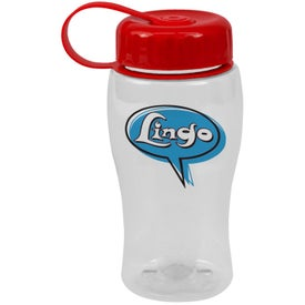 Poly-Pure Bottle with Tethered Lid Branded with Your Logo