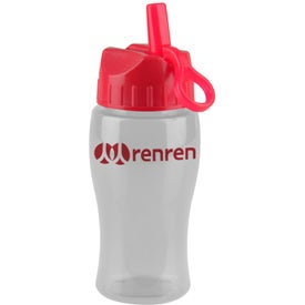 Personalized Poly Pure Jr. Transparent Bottle with Flip Straw Lid
