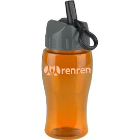 Logo Poly Pure Jr. Transparent Bottle with Flip Straw Lid