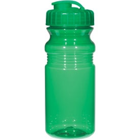Poly Clear Fitness Bottle with Super Sipper Lid for Your Organization