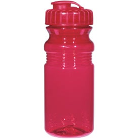 Poly Clear Fitness Bottle with Super Sipper Lid Printed with Your Logo