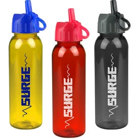 Customized Poly-Pure Bottle with Flip Straw Lid