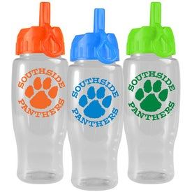 Poly-Pure Travel Bottle with Flip Straw Lid for your School