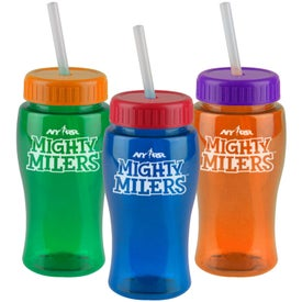 Poly-Pure Junior Bottle w/ Straw Lid for your School