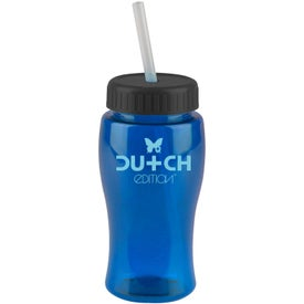 Printed Poly-Pure Junior Bottle w/ Straw Lid