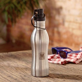 Pop Top Stainless Steel Bottle (24 Oz.)
