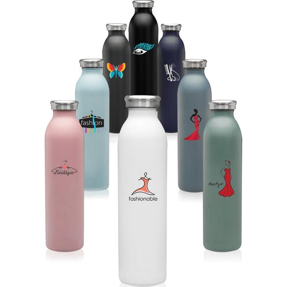 Black Posh Stainless Steel Water Bottle