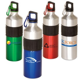 Monogrammed Power Grip Aluminum Bottle