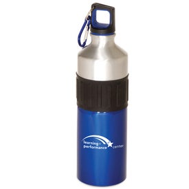 Logo Power Grip Aluminum Bottle