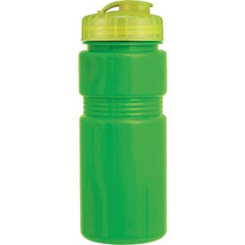 Personalized Recreation Bottle With A Flip Top Lid