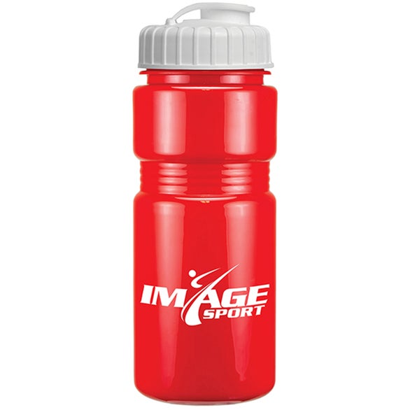 Red Recreation Bottle With A Flip Top Lid