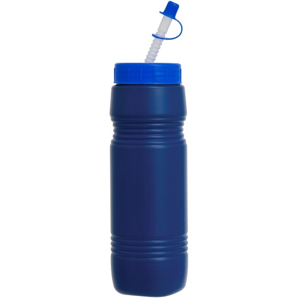 Recycled Bottle With Flex Whistle Straw Lid