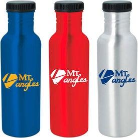 Retro Aluminum Bottle Printed with Your Logo
