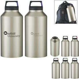 Rover Stainless Bottle With Carabiner Clip (64 Oz.)