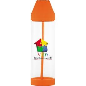 Roy G Biv Easy Clean Plastic Bottle for Marketing