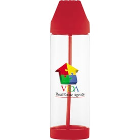 Roy G Biv Easy Clean Plastic Bottle Printed with Your Logo