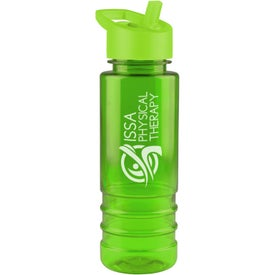 Salute Tritan Bottle with Flip Straw Lid Imprinted with Your Logo