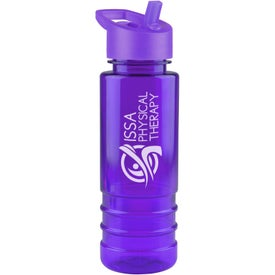 Salute Tritan Bottle with Flip Straw Lid with Your Logo