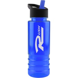 Salute Tritan Bottle with Flip Straw Lid for Your Organization
