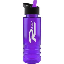 Customized Salute Tritan Bottle with Flip Straw Lid