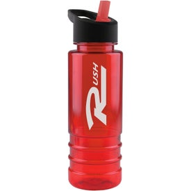 Custom Salute Tritan Bottle with Flip Straw Lid