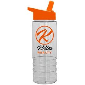 Logo Salute Tritan Bottle with Flip Straw Lid
