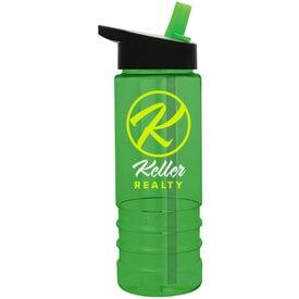 Personalized Salute Tritan Bottle with Flip Straw Lid
