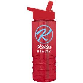 Branded Salute Tritan Bottle with Flip Straw Lid