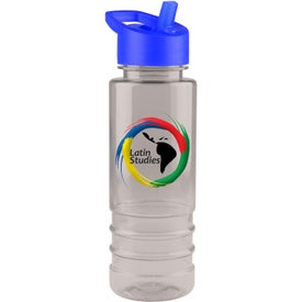 Salute Tritan Bottle With Flip Straw Lid (Full Color, 24 Oz.)