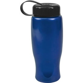 Customized ShimmerZ Sport Bottle with Tethered Lid