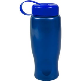 ShimmerZ Sport Bottle with Tethered Lid Branded with Your Logo