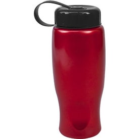 ShimmerZ Sport Bottle with Tethered Lid with Your Logo