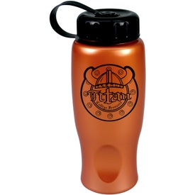 Imprinted ShimmerZ Sport Bottle with Tethered Lid